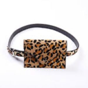 Leopard Leather belt bag! NWT
